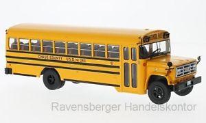 【送料無料】模型車 モデルカー スポーツカー ネットワークixo 143 gmc 6000 schoolbus 1990