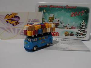 【送料無料】模型車 モデルカー スポーツカー ピッコロバスバスモデルクリスマスクリスマススペシャルschuco piccolo 05194 vw bus t1 bus christmas special weihnachtsmodell 2017