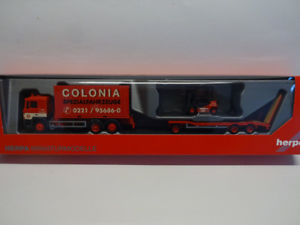 【送料無料】模型車 モデルカー スポーツカー herpa 308182 man f 90 container lkw goldhofer tu3 gabelstapler colonia 187 neu