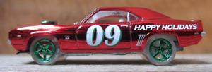 【送料無料】模型車 モデルカー スポーツカー ジョニーシボレーカマロイラ164 johnny lightning 2009 employee spoilers 69 chevy camaro ss