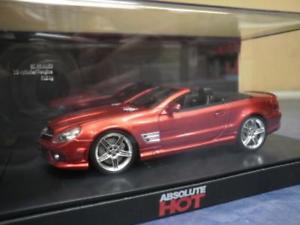 【送料無料】模型車 モデルカー スポーツカー ホットメルセデスカブリオレschuco 143 absolut hot mercedes sl65 amg cabrio red