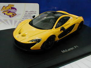 【送料無料】模型車 モデルカー スポーツカー イエローマクラーレントップautoart 56011 mclaren p1 road car baujahr 2013 volcanoyellow 143 top