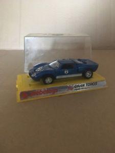【送料無料】模型車 モデルカー スポーツカー ビンテージグランフォードイタリアvintage 70s mebetoys gran toros ford mk11 gt40 blue 143 made in italy