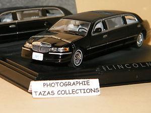 【送料無料】模型車 モデルカー スポーツカー リンカーンタウンカーリムジンノワールlincoln town car limousine noir 2000 vitesse 143 ref 36311