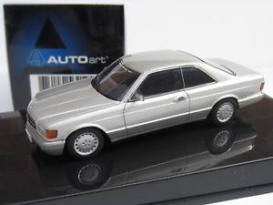 【送料無料】模型車 モデルカー スポーツカー スケールメルセデスベンツアストラルシルバークーペ#autoart, 143 scale, mercedesbenz 500 sec w126 coupe in astral silver, 56212