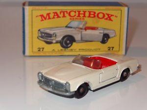 【送料無料】模型車 モデルカー スポーツカー マッチメルセデスk lesney matchbox mercedes 230 sl 27