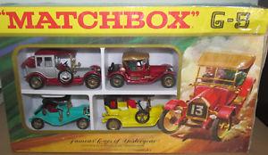 【送料無料】模型車 モデルカー スポーツカー マッチセットmatchbox lesney g5 famous cars of yesteryear set with original box