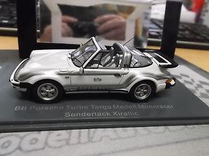 【送料無料】模型車 モデルカー スポーツカー ターボポルシェタルガムーンレーサーホワイトネオporsche 911 930 turbo targa bb b b bamp;b moonracer white weiss neo resi sp 143