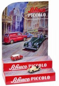 【送料無料】模型車 モデルカー スポーツカー ピッコロミニschuco piccolo mini display mit 2 piccolos 450955100