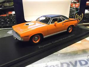 【送料無料】模型車 モデルカー スポーツカー プリマスオレンジplymouth cuda 426 hemi v8 1970 muscle car orange resin bos 143