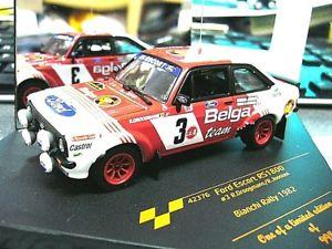【送料無料】模型車 モデルカー スポーツカー フォードラリールマンビアンキ#ford escort mkii rallye droogmans belga bianchi 1982 3 rar vitesse 143
