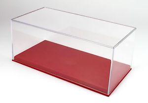 【送料無料】模型車 モデルカー スポーツカー ボックスロッサvetrina display box base alcantara rossa cm 325x165x135 bbr 118 vet1804d1