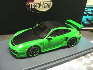 【送料無料】模型車 モデルカー スポーツカー ポルシェチューニンググリーングリーンハイエンドporsche 911 997 techart tuning gt green grn highenddetail resin sonderpr 143