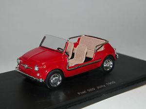 【送料無料】模型車 モデルカー スポーツカー フィアットスパークジョリーレッドモデルspark s1499 fiat 500 jolly baujahr 1959 rot 143 resinemodell ovp