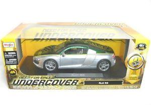 【送料無料】模型車 モデルカー スポーツカー アウディグリーンシルバーaudi r8 grnsilber nfs
