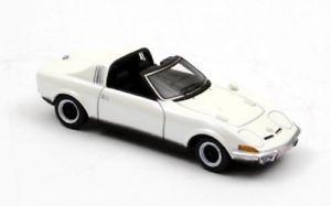 【送料無料】模型車 モデルカー スポーツカー ネオオペルエアロホワイトオープンneo opel gt aero 1969 weiss en 143 limitiert
