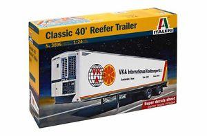 送料無料 模型車 モデルカー スポーツカー モデルキットクラシックリーファートレーラーitaleri 3896 model kit 40 124 格安 classic camion tir 市販 trailer reefer