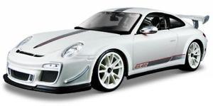【送料無料】模型車 モデルカー スポーツカー ポルシェグアテマラルピーホワイトモデルカーporsche 911 997 gt3 rs 40 weiss modellauto 11036 bburago 118