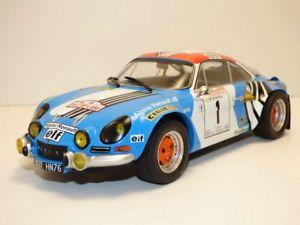 【送料無料】模型車 モデルカー スポーツカー ルノーアルパインツールドコルスラリーalpine renault a110 vainqueur rallye tour de corse 1973 118