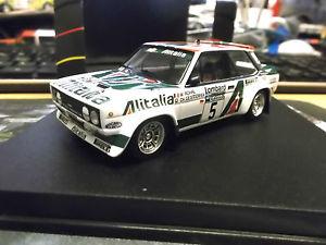 【送料無料】模型車 モデルカー スポーツカー フィアットアバルトロンバードラリー#fiat 131 abarth rallye rac gb lombard 5 rhrl 1978 alitalia pirell trofeu 143