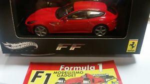 【送料無料】模型車 モデルカー スポーツカー フェラーリホットホイールエリートferrari ff red w1187 hot wheels elite 143