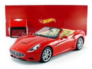 【送料無料】模型車 モデルカー スポーツカー フェラーリカリフォルニアhotwheels mattel  118  ferrari california  r3255:hokushin