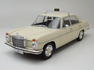 【送料無料】模型車 モデルカー スポーツカー メルセデスラインジェットコースタータクシーベージュモデルカーmercedes 220 8 strichachter w115 taxi 1973 beige, modellauto 118 mcg