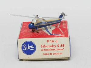 【送料無料】模型車 モデルカー スポーツカー ヘリコプターシコルスキーsiku f14a hubschrauber sikorsky s58 sabena 1250 ovp 0051203