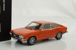【送料無料】模型車 モデルカー スポーツカー クーペアウディオレンジスケールaudi 100 coupe s 1970 orange 118 kk scale resin neu