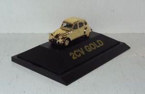 【送料無料】模型車 モデルカー スポーツカー ダックシトロエンパソコンherpa citroen ente 2cv gold 187 pc und ovp r2_3_14