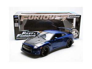 【送料無料】模型車 モデルカー スポーツカー jada toys 118 nissan gtr35 2009 fast and furious 7 97035bl