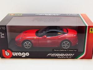 【送料無料】模型車 モデルカー スポーツカー ロットフェラーリカリフォルニアダイカストボックスlot 31205 burago ferrari california t closed top diecast 118 neu in ovp