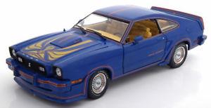 【送料無料】模型車 モデルカー スポーツカー グリーンライトフォードムスタングキングコブラゴールデン118 greenlight ford mustang 2 king cobra 1978 bluegolden