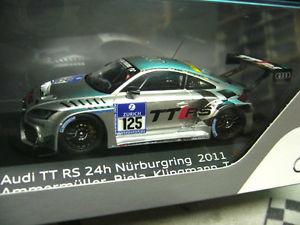 【送料無料】模型車 モデルカー スポーツカー アウディニュルブルクリンクビーラ#アンマーミュラースパークaudi tt rs 24h nrburgring 2011 125 biela ammermller tomczyk resin spark 143