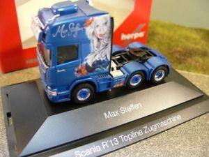 【送料無料】模型車 モデルカー スポーツカー スカニア×トラック187 herpa scania r tl 6x2 zugmaschine max steffen ch 110884