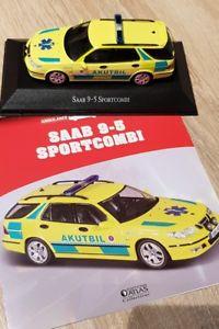 【送料無料】模型車 モデルカー スポーツカー サーブスポーツコンビテスウェーデンアトラスsaab 95 sportkombi   143 ovp sehr rar notarzt schweden atlas verlag