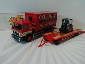 【送料無料】模型車 モデルカー スポーツカー herpa 308182 man f 90 containerlkw; goldhufer tu3 stapler colonia 187