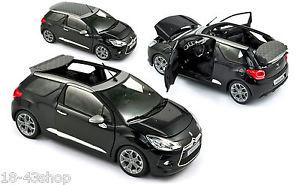 【送料無料】模型車 モデルカー スポーツカー ノワールnorev 181545 citron ds3 cabrio noir 2013 118