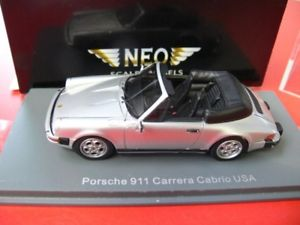 【送料無料】模型車 モデルカー スポーツカー ポルシェカレラカブリオレアメリカシルバー143 neo porsche 911 carrera cabrio usa silber 43251