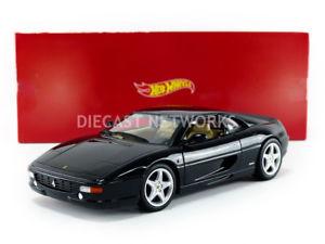 【送料無料】模型車 モデルカー スポーツカー フェラーリノワールhotwheels mattel 118 ferrari 355 berlinetta noir bly58