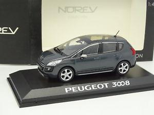 【送料無料】模型車 モデルカー スポーツカー プジョーシュルnorev 143 peugeot 3008 grise