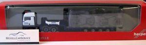 【送料無料】模型車 モデルカー スポーツカー セミトレーラトタローダユーロherpa 303538 man tgx xlx euro 5 semitiefladesattelzug m hakenflwasel krane