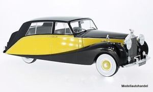【送料無料】模型車 モデルカー スポーツカー ロールスロイスブラックイエローrolls royce silver wraith empress by hooper, schwarzgelb rhd 1956 118 mcg neu