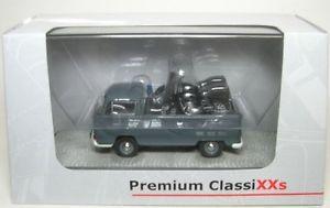 【送料無料】模型車 モデルカー スポーツカー シングルプラットフォームvw t2a pritsche gendarmerie mit 2 puch sg250 143