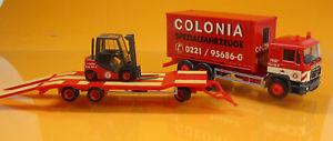 【送料無料】模型車 モデルカー スポーツカー herpa 308182 man f 90 containerlkw goldhofer tu3 gabelstapler colonia 1 87 neu