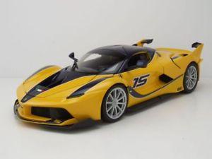 【送料無料】模型車 モデルカー スポーツカー フェラーリイエローモデルカーferrari fxx k 15 2015 gelb, modellauto 118 burago