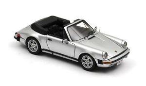 【送料無料】模型車 モデルカー スポーツカー ポルシェカブリオレシルバーネオスケールporsche 911 cabrio federal silver 1985 neo scale 143 43251