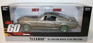 【送料無料】模型車 モデルカー スポーツカー ライトスケールgreenlight 124 scale 18220 gone in 60 seconds eleanor mustang rare green wheels
