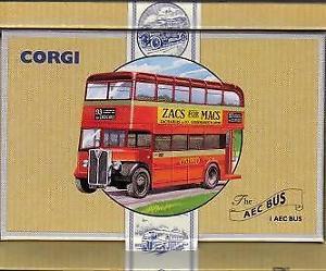 【送料無料】模型車 モデルカー スポーツカー マックロッソバスオックスフォードaec bus oxford zacs for macs corgi toys rosso 150