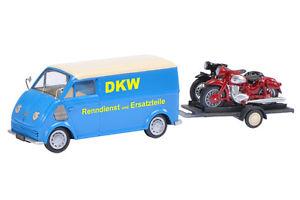 【送料無料】模型車 モデルカー スポーツカー ハンガースケールクイックschuco 02388, dkw schnellaster mit hnger und 2 dkw rt, ma 143, ovp und neu